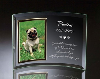 Engraved Pet Memorial Photo Frame