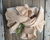 Multi-purposed tea towel:  handwoven organic naturally brown colored cotton (Large)