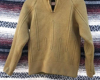 Mustard Yellow Wool Pullover: XS