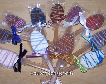 Chocolate Coffee Dunker Spoons - Flavored Spoons - Coffee Spoons - Chocolate Spoons