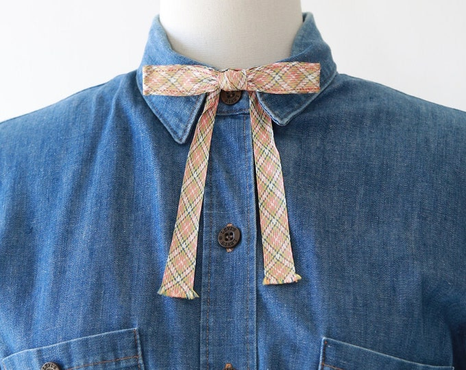 Vintage Radiance N.Y.C. bow tie | Woven Plaid Western Rockabilly bow tie | 50s bow tie