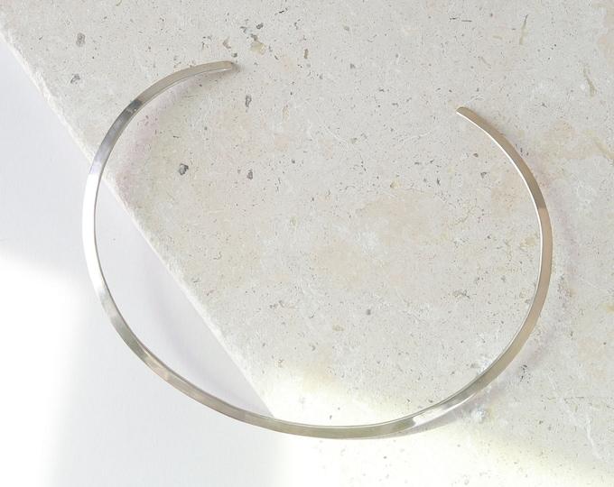 Vintage modernist sterling silver bib necklace signed