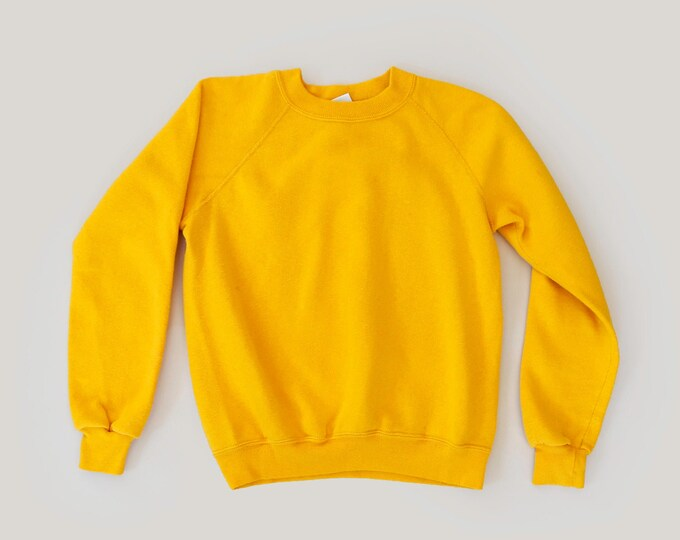 Vintage yellow Reglan sweatshirt | youth reglan | women's petite sweatshirt