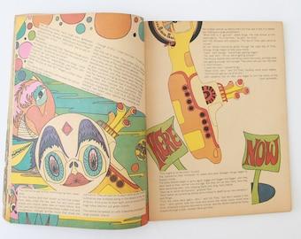 Richard Avedon A Day in the Life of the Beatles magazine | Vintage Richard Avedon illustration artwork 1968