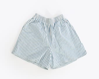 80s Chic striped cotton shorts