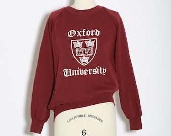 Oxford University sweatshirt | Vintage 80s reglan college sweater