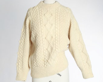 Scotch House fisherman sweater | vintage 70s Scottish wool fisherman sweater