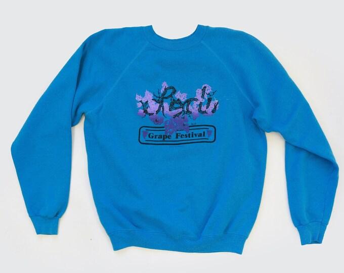Reglan sweater  | Vintage blue Reglan sweatshirt | Lodi Grape Festival