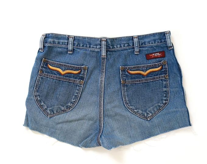 Wrangler Wrapid Transit jean shorts | Vintage 70s Wrangler cutoff shorts W31