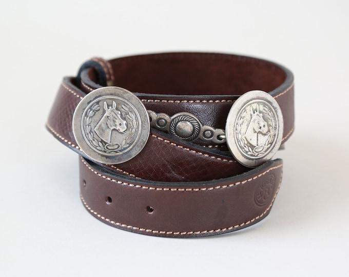 Sterling horse bit belt | vintage equestrian sterling silver belt