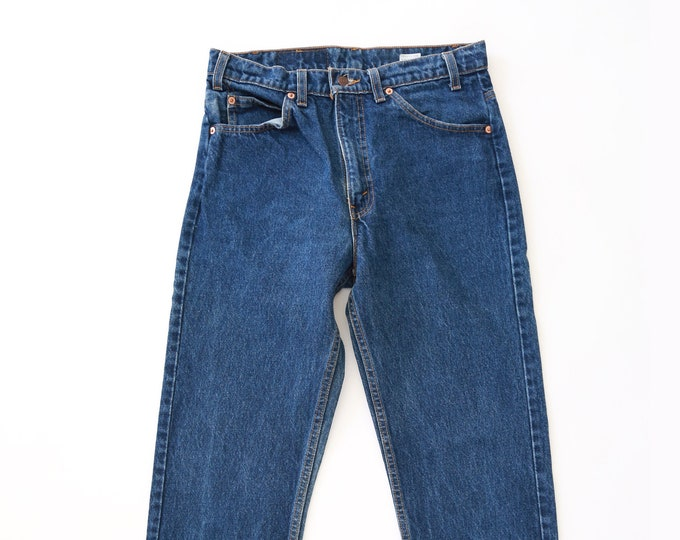 Vintage Levis orange tab 505 Indigo jeans
