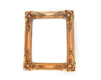 Antique vintage ornate gold frame