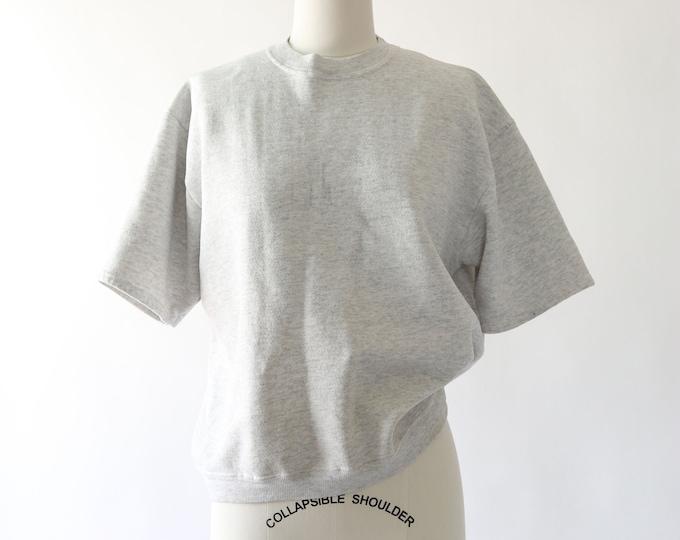 Vintage 90s cropped gray sweatshirt M