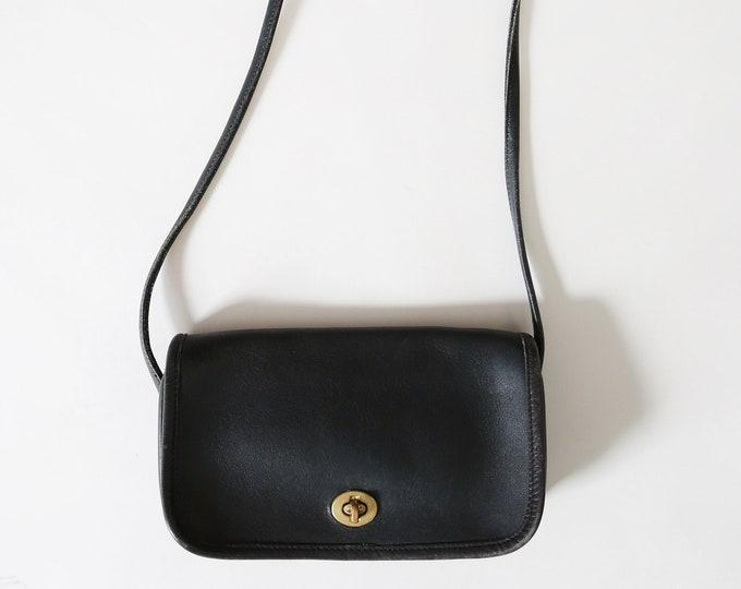 Coach purse | Vintage New York COACH bag | Coach small Black leather cross body purse