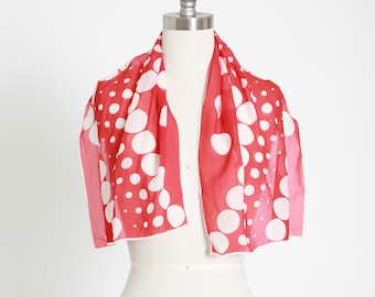 Vintage red dot silk scarf