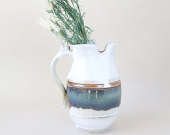 Vintage hand thrown stoneware pitcher