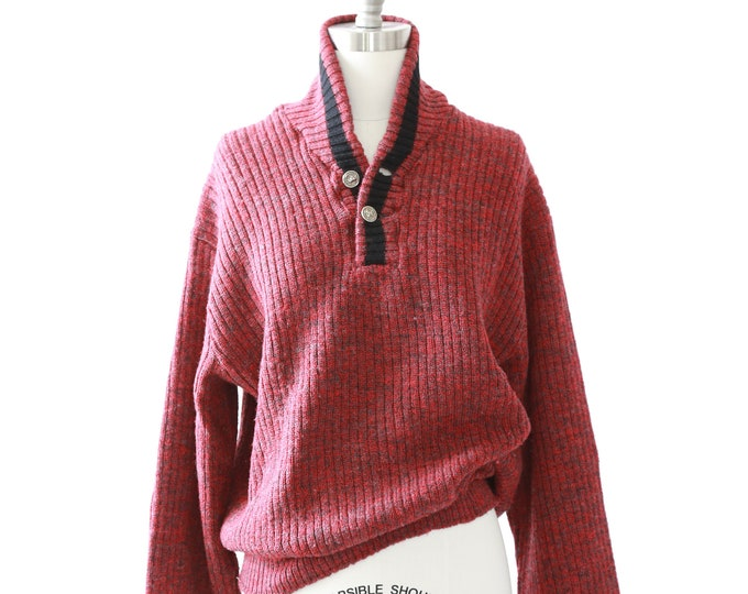revere wool sweater    Vintage 50s marbled knit sweater