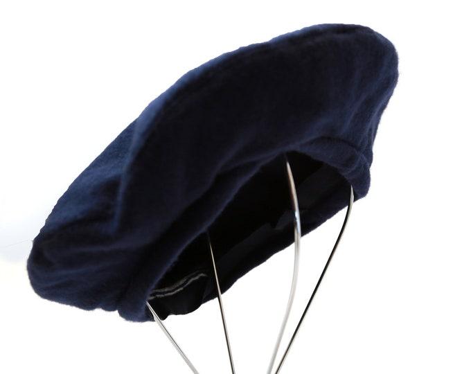 Navy Beret | Vintage Brooks Brother wool beret hat