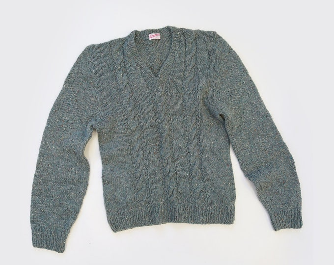 Fallis sweater | Vintage marbled cable knit wool sweater | Menswear sweater