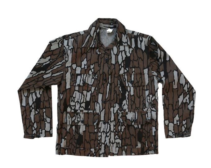 Vintage Trebark Camo Hunting long sleeve coat jacket | NOS Terbark jacket