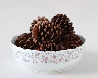 Antique Vintage French Bowl   French porcelain CH FIELD Haviland Limoges floral bowl Dish CFH