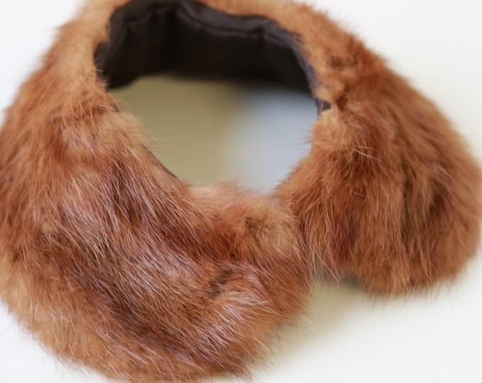 Autumn haze mink collar | Vintage 50s mink fur collar