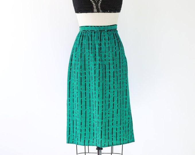 maggie london  silk skirt | vintage 80s abstract secretary Mindi dress Skirt