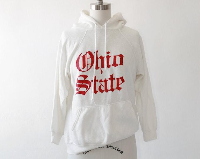 Ohio State hoodie | Vintage 80s Ohio State University sweatshirt | Old English Sweatshirt