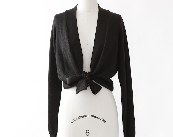 FIA ITALIA cardigan | vintage 90s hand loomed tie sweater
