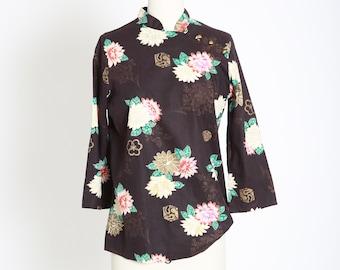 Vintage 70s oriental cotton blouse