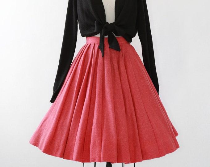 50s Salmon wool circle skirt