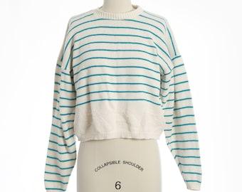90s Nautical striped knit sweater