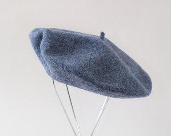 Blue Beret hat | Vintage 70s Basque DeLuxe wool beret | Czech Republic Beret