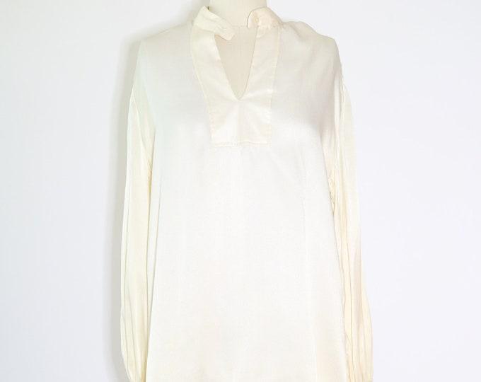Pearl pesant blouse | Vintage 70s Edwardian revival blouse