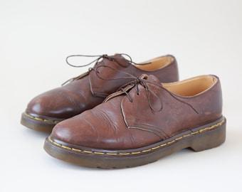 Doc Martens oxfords | Vintage women's brown leather oxfords UK 6 US 8