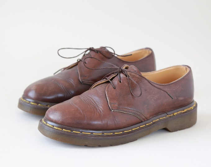 Doc Martens oxfords | Vintage women's brown leather oxfords UK 6 US 8