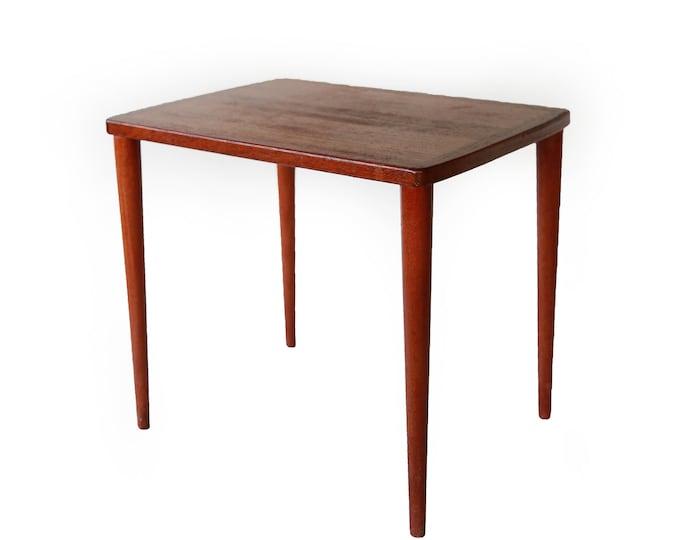 Vintage mid century modern teak side table   Kurt Ostervig  Hovmand Olsen style danish teak nesting table