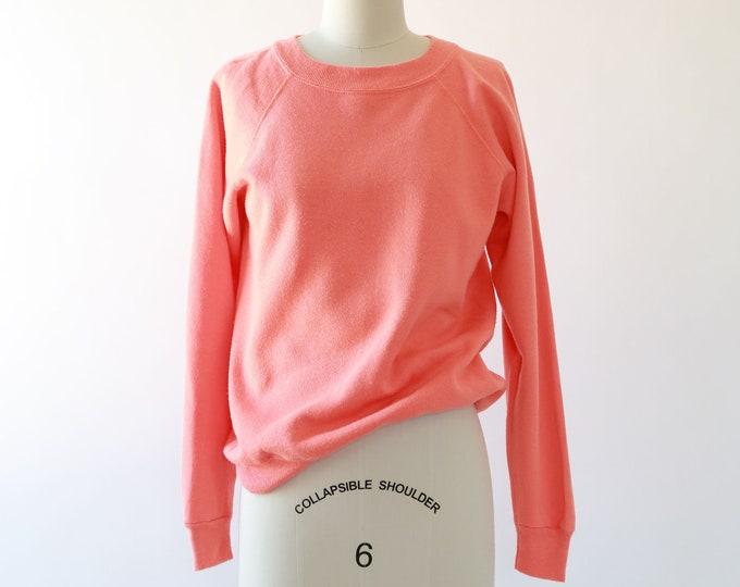 Salmon raglan sweatshirt | Vintage Reglan sweatshirt S