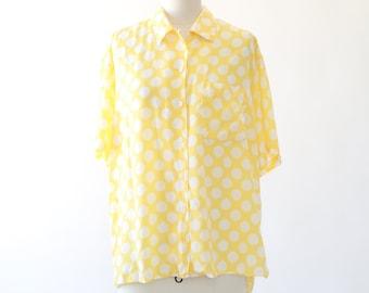 ESPRIT Dot rayon blouse  | Vintage 90s ESPRIT top