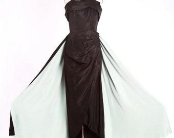 Emma Domb dress | Vintage 50s Emma Domb cocktail dress | 1950s Emma Domb designer evening dress
