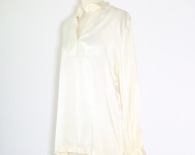 Pearl blouse | Vintage 70s Edwardian style blouse