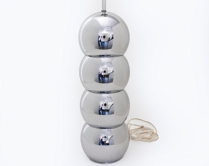 Kovacs chrome lamp | Vintage Mid Century Modern stacked chrome ball lamp | George Kovacs lamp