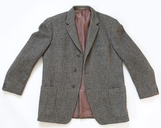Harris Tweed coat | Vintage 60s Mens Harris Tweed HandWoven wool Scottish coat