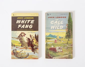 Jack London books | 1964 The Call of the Wild and White Fang paperback books