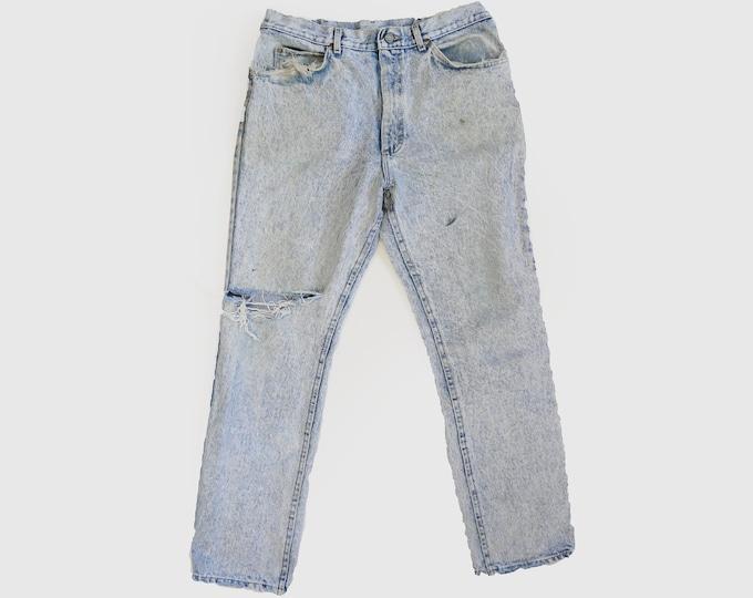 Vintage 80s LEE Acid Wash jeans USA W32 L29 1/2