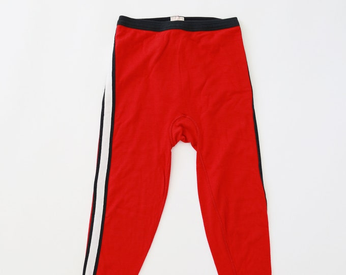 Vintage 70's Red white + blue jersey knit long johns sweat pants