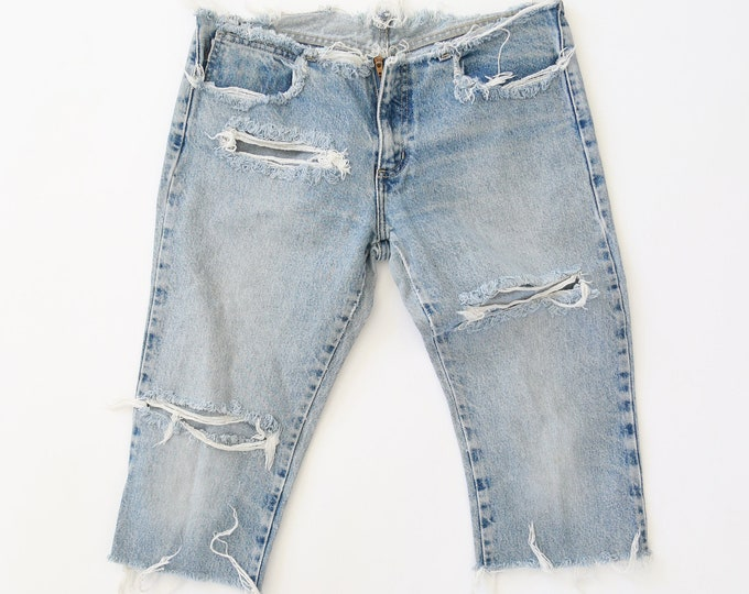 Vintage perfect worn in cropped jeans