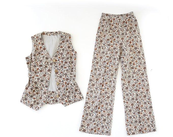 Botanical suit | Vintage 60s floral cotton 2pc set