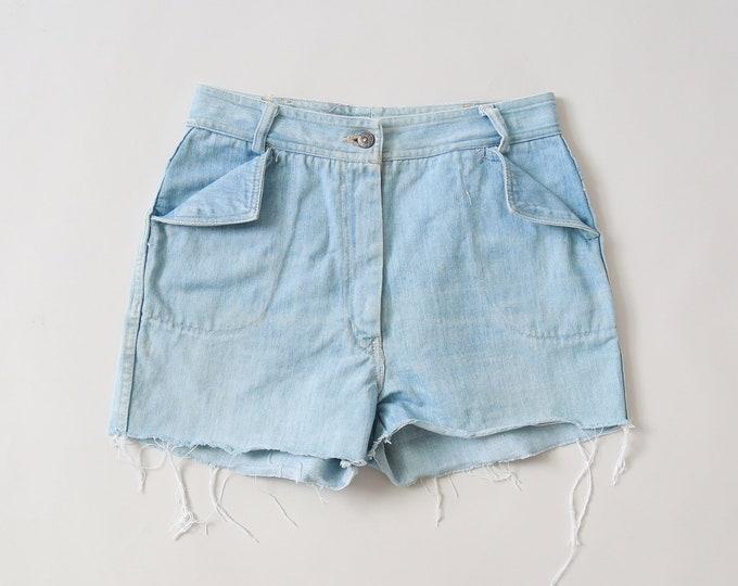 donnkenny jeans shorts | Vintage 70s cutoff jean shorts W28