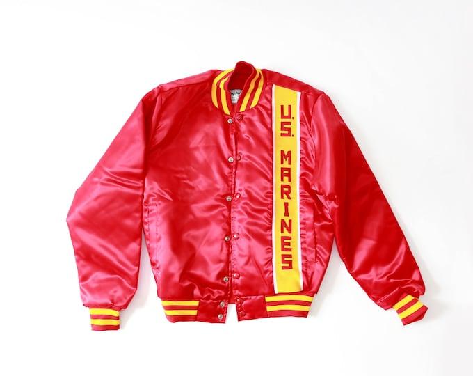 US Marines jacket | Vintage 80s Military satin bomber jacket